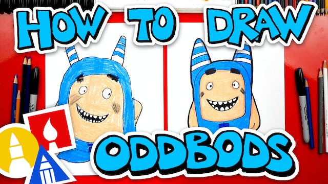 How To Draw Oddbods Pogo The Blue One