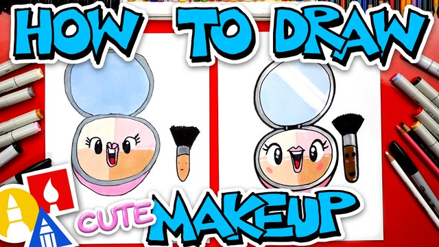How To Draw A Cute Makeup Compact