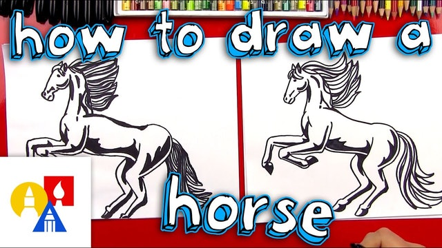 How To Draw A Realistic Horse (part1)
