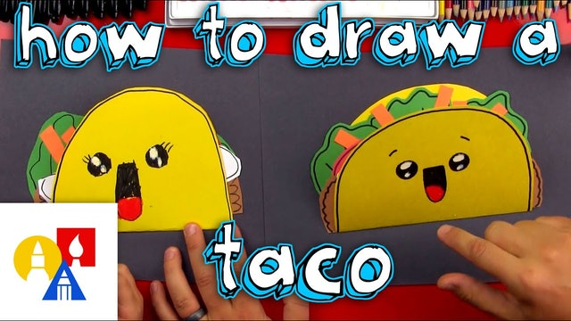 How To Draw A Taco Cutout