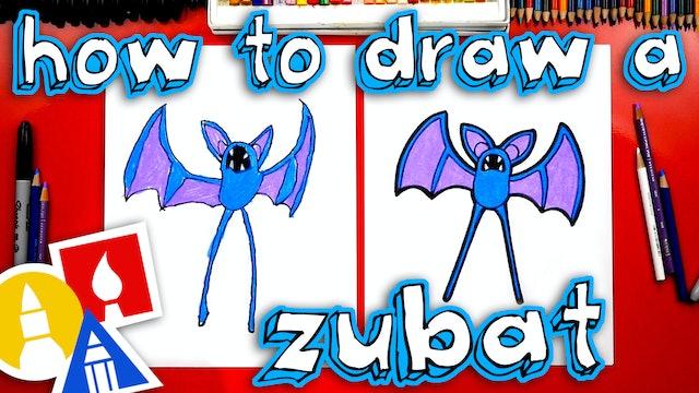 How To Draw Zubat From Pokemon