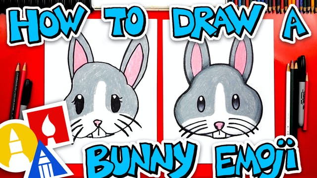 How To Draw The Bunny Face Emoji