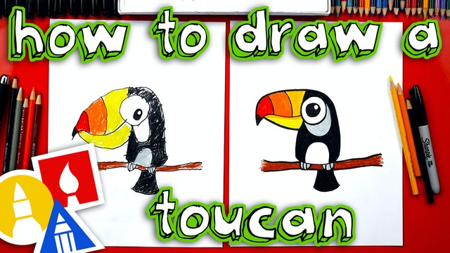 How To Draw Cartoon Toucan