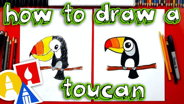 How To Draw Cartoon Toucan