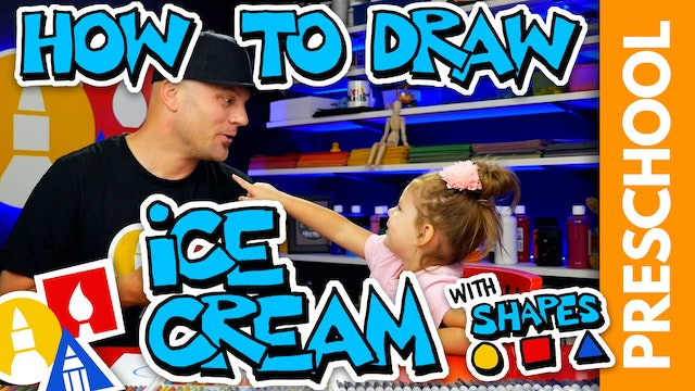 Drawing An Ice Cream Cone With Shapes - Preschool
