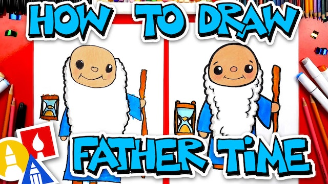 How To Draw Father Time For New Years