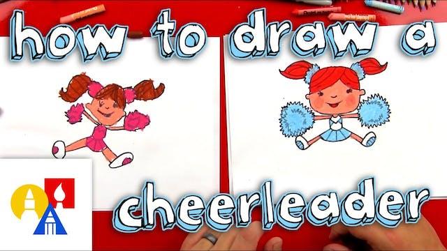 How To Draw A Cartoon Cheerleader