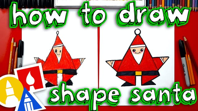 How To Draw Shape Santa (for young ar...