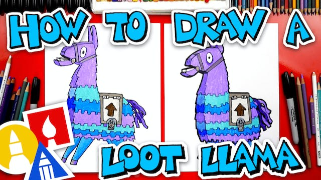How To Draw The Loot Llama From Fortnite