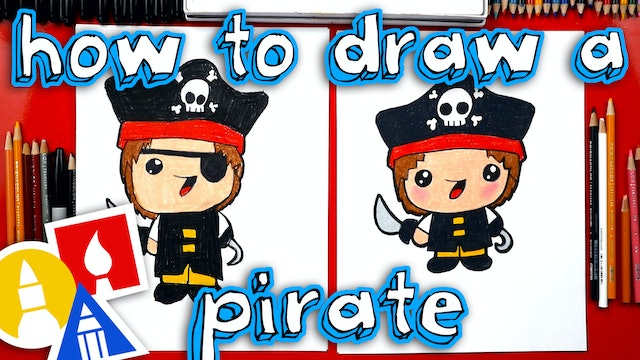 How To Draw A Cartoon Pirate