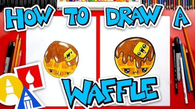 How To Draw A Funny Waffle