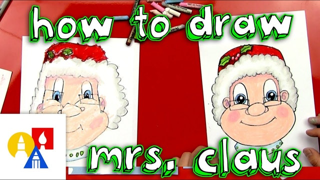 How To Draw Mrs Claus Face