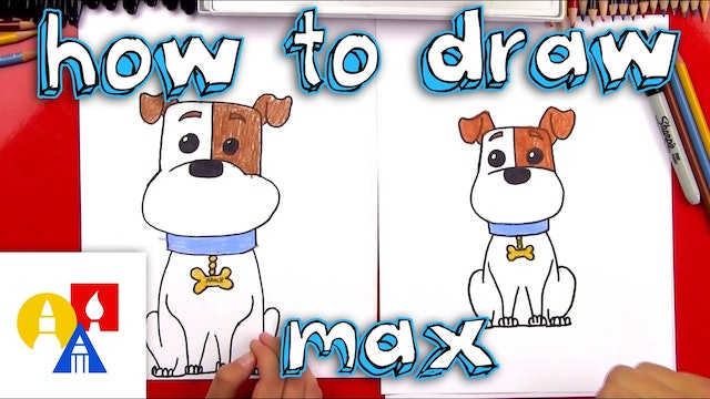 How To Draw Max From Secret Life Of Pets