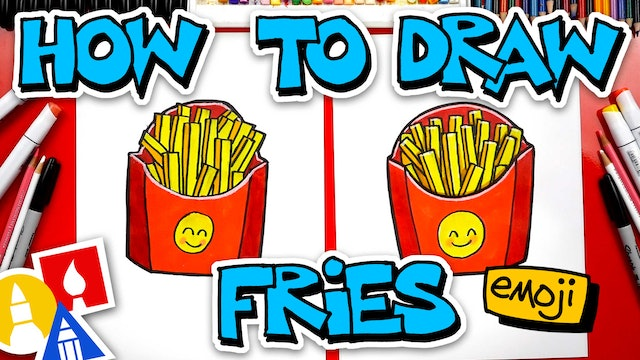 How To Draw The French Fries Emoji