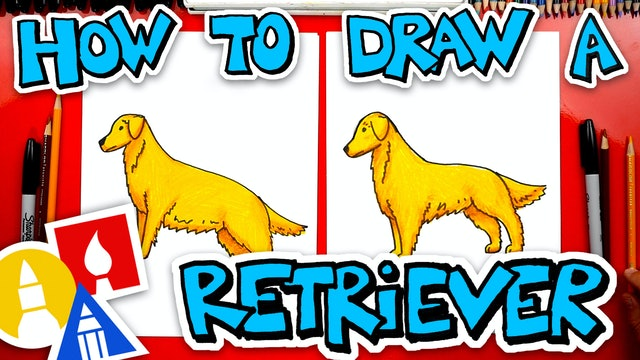 How To Draw A Golden Retriever