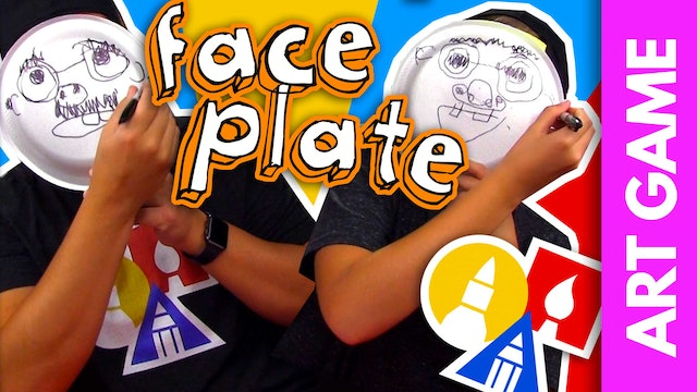ART GAME: Face Plate Drawing Challenge + Mail-Time!