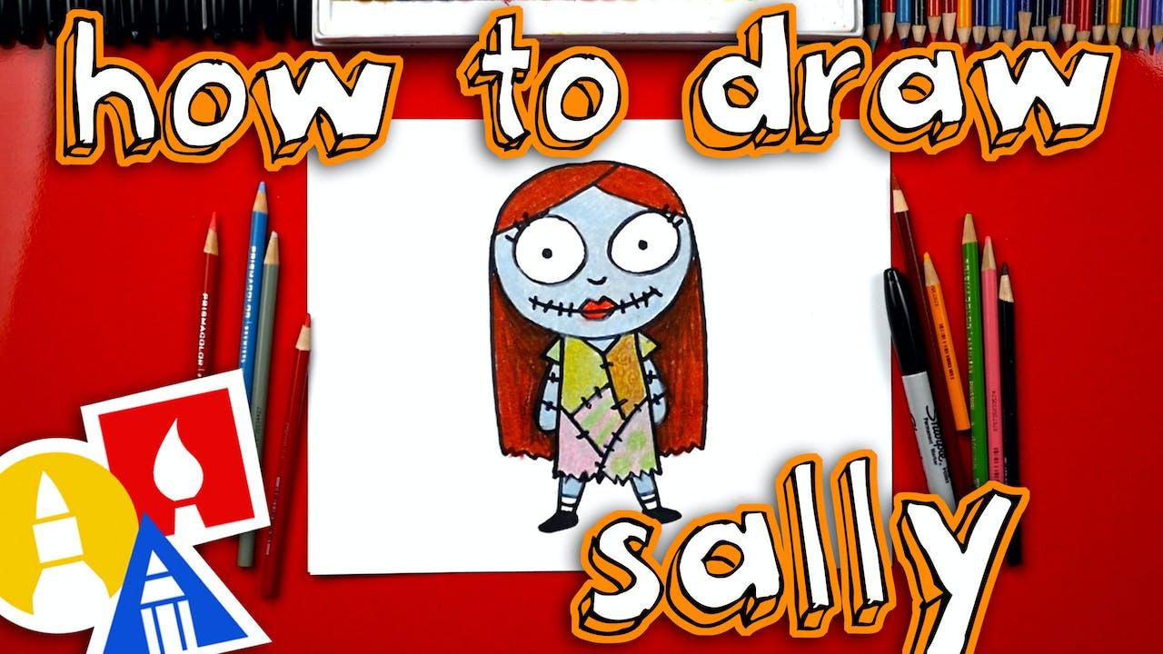 How To Draw Cartoon Sally - How To Draw Christmas - Art ...