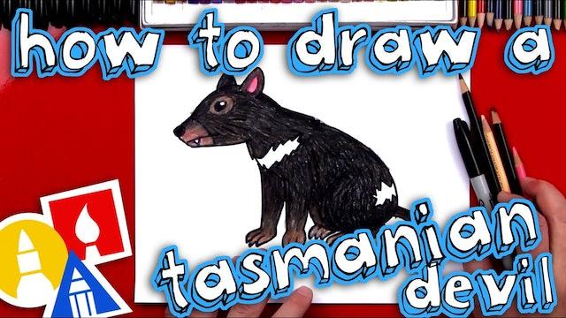 How To Draw A Tasmanian Devil