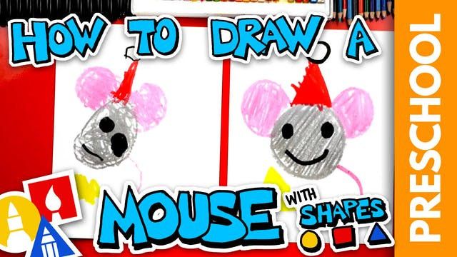 Drawing A Christmas Mouse Using Shape...