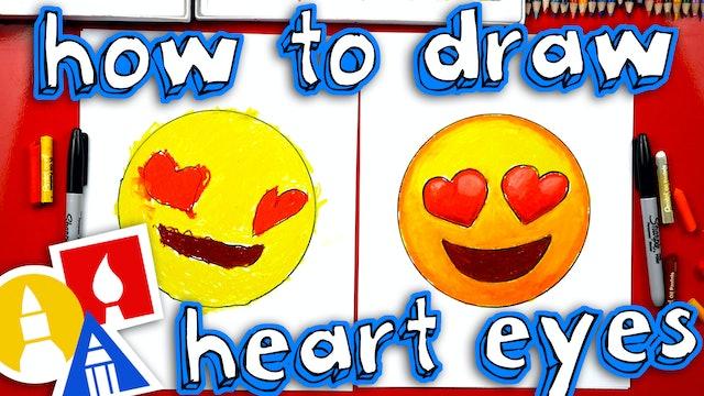 How To Draw Heart Eyes Emoji
