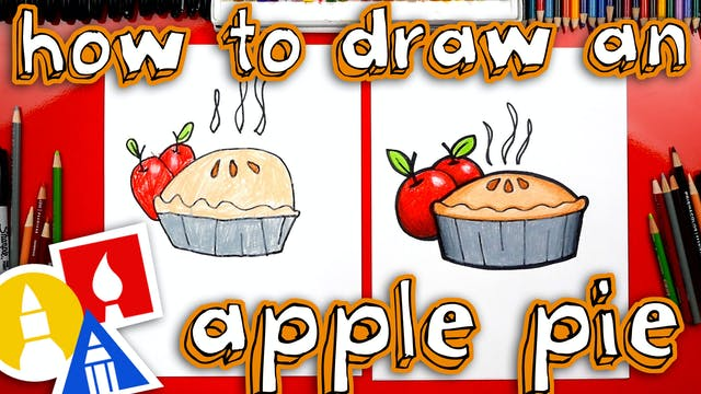 How To Draw An Apple Pie For Thanksgi...
