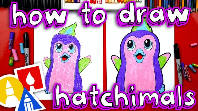 How To Draw Hatchimals Penguala Plus We Hatch A Real One