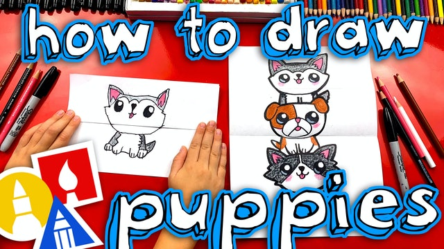 How To Draw A Puppy Stack Folding Surprise