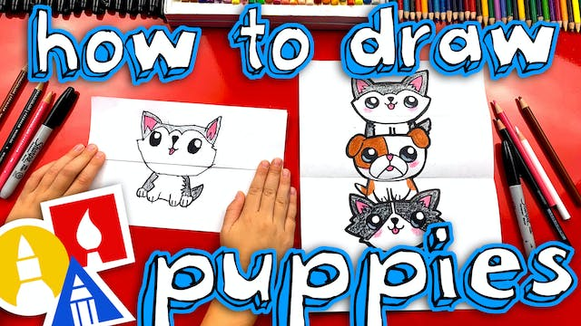 How To Draw A Puppy Stack Folding Sur...