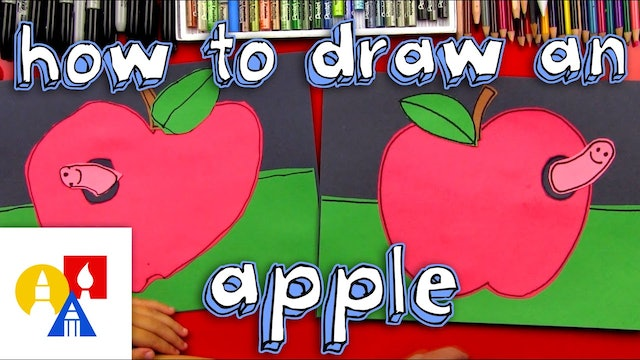 How To Draw An Apple Cutout For Young Artists