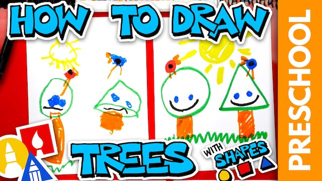 Drawing Trees With Shapes - Preschool
