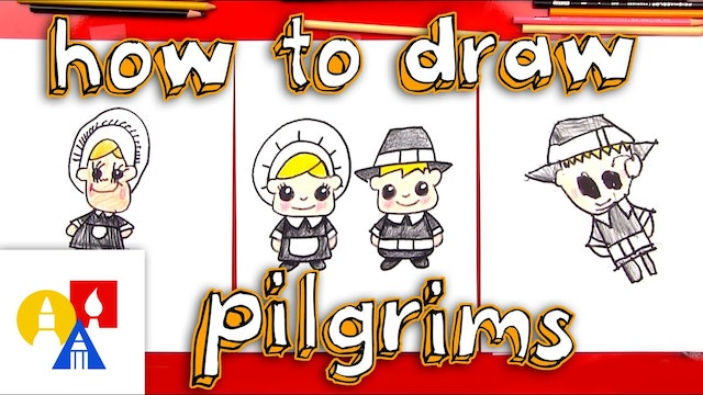 How To Draw Pilgrims (boy and girl)
