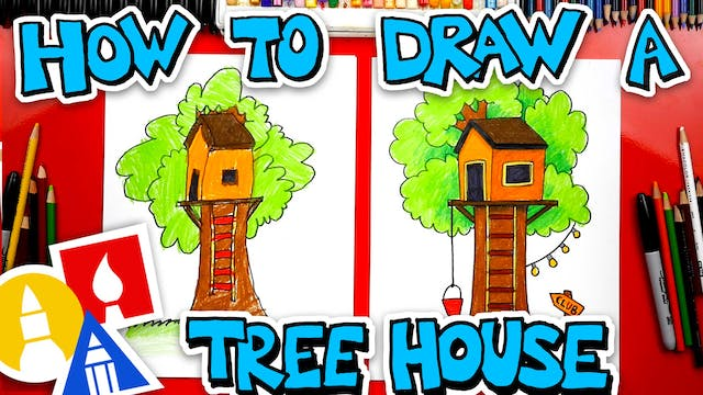 How To Draw A Treehouse