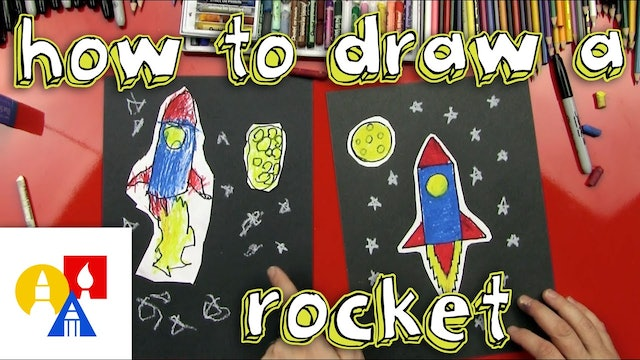 How To Draw A Rocket Ship Young Artists