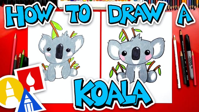 How To Draw A Cartoon Koala