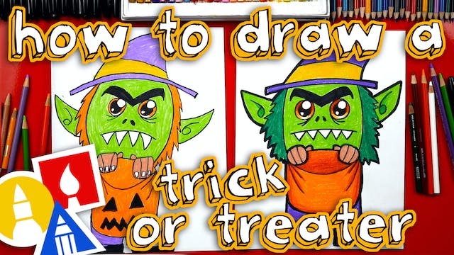 How To Draw A Trick or Treater - member