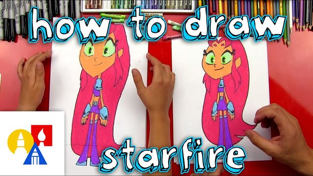 How To Draw Starfire From Teen Titans Go