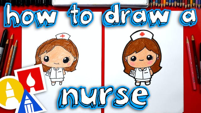 How To Draw Cartoon Nurse