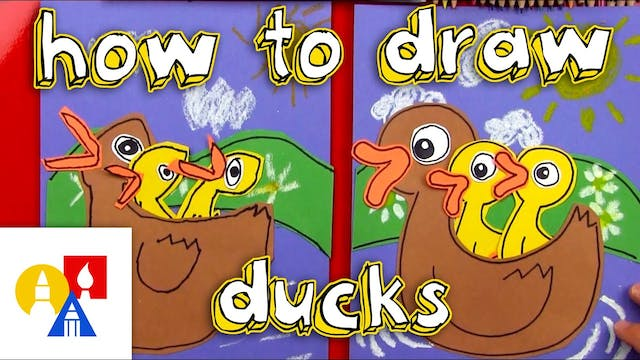 How To Draw Momma And Baby Ducks