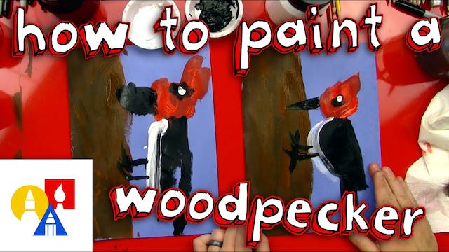 How To Paint A Woodpecker