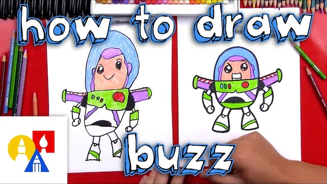 How To Draw Cartoon Buzz Lightyear
