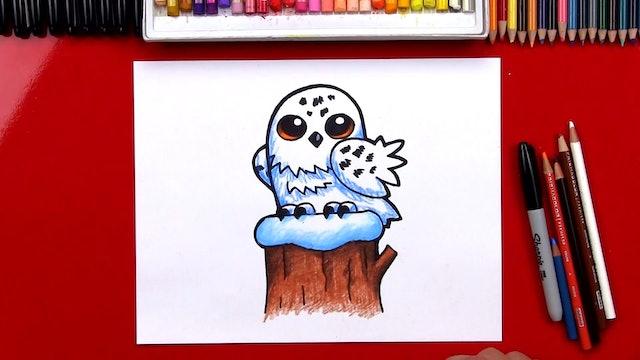 How To Draw A Snowy Owl Cartoon - member