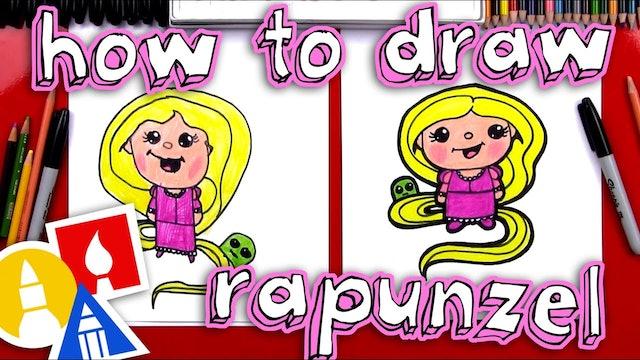 How To Draw Cartoon Rapunzel