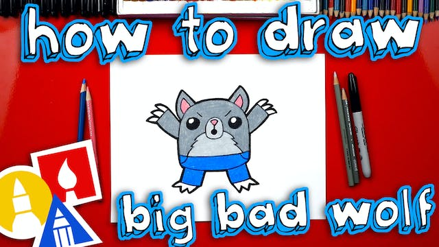 How To Draw The Big Bad Wolf