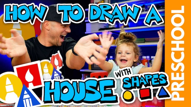 Drawing A House Using Shapes - Preschool