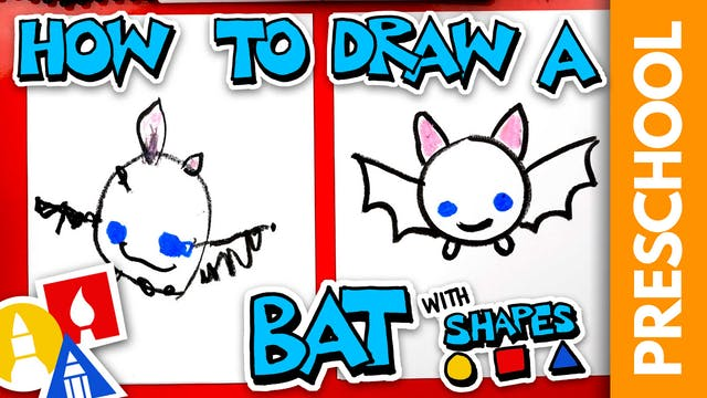 Drawing A Bat With Shapes - Preschool