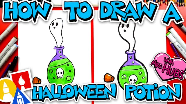 How To Draw Halloween Potion With Mrs...