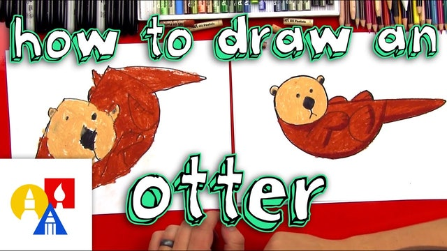 How To Draw An Otter For Young Artists