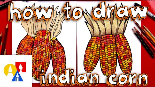 How To Draw Indian or Flint Corn