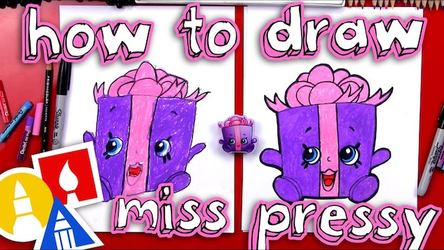 How To Draw Miss Pressy Shopkins