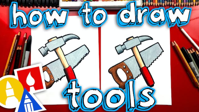 How To Draw A Hammer And Saw For Fath...
